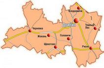 Карта Дрибинского района